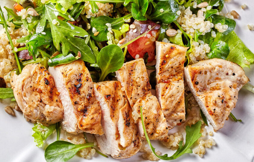 Quinoa Salad with Chicken and Walnut